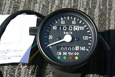 BLACK Mini Speedometer Speedo Gauge KPH  km/h gauges with indicator lights