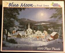 Blue Moon By Fred Swan 1000 Piece Puzzle NIB White Mountain 24x30 2004
