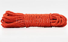 3Meter Red Twist Nylon Rope String Cord Twine Rope Bracelet Synthetic Silk 5mm