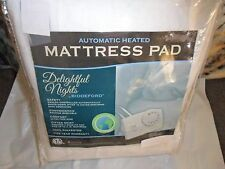 Biddeford Electric Heated Mattress Pad Delightful Nights + 2 Controllers - King