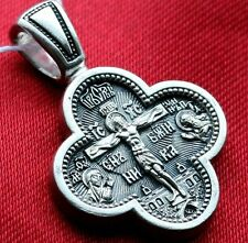 RUSSIAN ORTHODOX PENDANT MEDAL CHARM STERLING SILVER 925. MOTHER OF GOD. NEW !