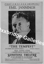 EMIL JANNINGS 1932 1st OSCAR Academy Award HANDBILL Anna Sten TEMPEST Movie Rare