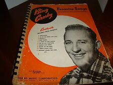 "Bing Crosby ""Favorite Songs"" with Words and Guitar Chords Spiral Songbook"