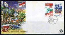 INDONESIE: ZB 1237/1238 FDC 1985 40e verjaardag Onafhankelijkheid