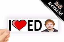 v41 I Love Heart Ed Sheeran Picture sticker Bumper Window Laptop Decal Concert