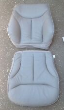 MERCEDES S-CLASS W140 FRONT SEAT TOP & BOTTOM CUSHION & COVER, GRAY, OEM