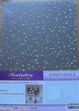 Crafters Companion Hunkydory Snowfall Acetate Snow Foiled FULL PACK - 16 Sheets
