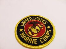 UNITED STATES MARINE CORPS Round Patch Embroidered Circle Military