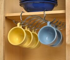 NEW Shelf Mount Mug Holder Cup Rack Hooks Cabinet Storage Organizer Hanger Store