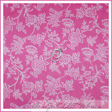 BonEful Fabric Cotton Quilt VTG Pink White Small Flower Rose Baby Nursery SCRAP