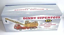 DINKY Reproduction Box 972 20-Ton Lorry Mounted Crane 'Coles' b
