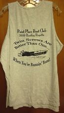 TWIN SCREWS DISTILLERY sleeveless shirt 2XL tank 2010 Point Place Boat Club XXL