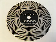 GOLDRING LENCO GL75/78 VINTAGE SWISS TURNTABLE STROBE