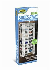 Deluxe Shoes Away Hanging Organizer Organize 20 Pairs Closet TV Holder Over Door