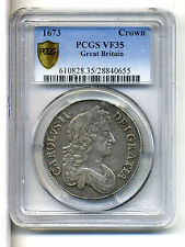 Great Britain Crown,Charles II 1673,PCGS VF 35