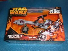 STAR WARS REVENGE OF THE SITH BARC SPEEDER w/ BARC TROOPER C-9.5+