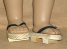 Doll Shoes fitting 18 in & American Girl Dolls Japanese Wooden Shoes Sandals
