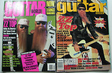 ZZ Top Billy Gibbons Guitar Magazine Lot/2 Dusty Hill