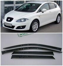 For Seat Leon II Hb 2005-2012 Side Window Visors Sun Rain Guard Vent Deflectors