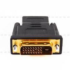 Hot Gold Plated DVI 24+1 Male to HDMI Female Adapter Converter For HDTV LCD arkt
