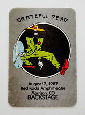 Grateful Dead Backstage Pass Shakedown Street Sam 8/12/1987 Red Rocks Colorado