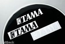 Autocollant TAMA  batterie BLACK - DRUM STICKER Grosse Caisse GENUINE OLD STOCK