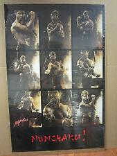 Vintage Martial Arts NUNCHAKU! Nunchuck Karate poster 1987 1520