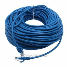 50M 1FT 1 FT ETHERNET NETWORK BLUE CAT5 CAT5E CABLE NEW  BLUE 83081
