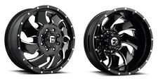 """20"""" Fuel Cleaver Dually D574 Black Wheels Rims 8x200 8 Lug Ford F350 2005 and up"""