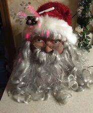 2004 FIBER OPTIC CHRISTMAS SANTA CLAUS HEAD CRACKER BARREL LIGHTED Night Light