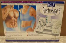 IGIA ELECTRO SAGE 8 BODY MUSCLE MASSAGER 8 CONTROL PAD 4 CONTROL DIALS MASSAGE *