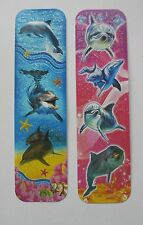 Dolphins 2pcs Cardboard Bookmarks 6.5'' lenght (16cm).