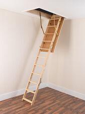 WOOD TIMBER FOLDING ATTIC STAIRS & HATCH 60cm x 120cm loft ladder (not optistep)