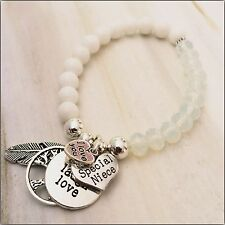 I Love You Niece Bracelet With Live Love Laugh Angel Feather Tree Of Life Gift