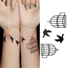 Body Art Tatoo bird cage Removable waterproof Tattoo Stickers Temporary Tattoo