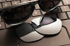 A27 Titanium Mirror POLARIZED Replacement Legend Lenses For Oakley FROGSKIN