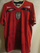England The FA 2008-2009 Squad Signed Football Shirt includes top players /3332