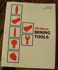 VR/Wesson Mining Tools Catalog 505 November 1974 Free US Shipping W/ Price List