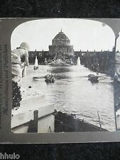STA073 St Louis USA The Gem World's Fair 1904 STEREO albumen Photo Stereoview