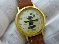 MIKEY MOUSE, LORUS, DISNEY, All GOLD FACE, Cool, Ladies/Kids WATCH,L@@K 954