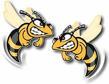 Vinyl sticker/decal Extra small 50mm angry hornet - pair