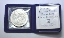 "2015 Medallion of Alaska""The Polar Bear Family""1 oz.999 Silver Round,Alaska Mint"