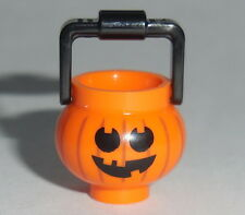 ACCESSORY Lego Pumpkin Jack O Lantern w/ Handle  NEW Halloween Bucket Candy