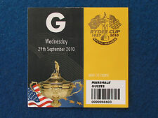 Ryder Cup 2010 - Celtic Manor - Marshal's Guest Ticket - 29/9/10