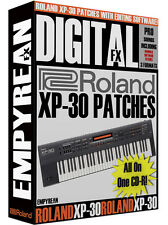 Roland XP-30 Synth Patches Keyboard Tone Presets Effects Unit Settings Library