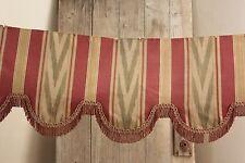 Pelmet valance French vintage silk cotton w/ trim c 1940's chateau textile