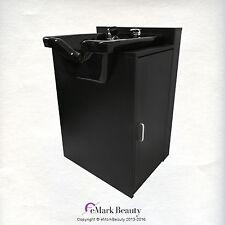 Square Shampoo Sink Bowl Black Cabinet Beauty Salon Furniture TLC-B11-KSGT-FC