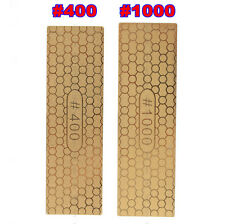 400#/1000# Diamond Plate Ti Titanize Knife Sharpening Stone Whetstone Polishing