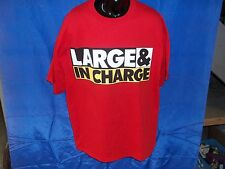 """NEW ADULT 2XL BIG & TALL """"LARGE & IN CHARGE"""" 100% COTTON SHORT SLEEVE T-SHIRT"""