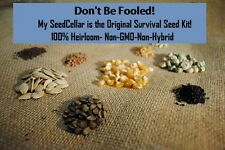 Survival SEED Bank- 8,500 SEEDS- 100% Heirloom- Non-GMO-Non-Hybrid- 2016!